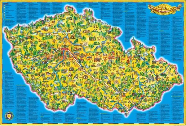 Dětská mapa ČR (119 x 83 cm)
