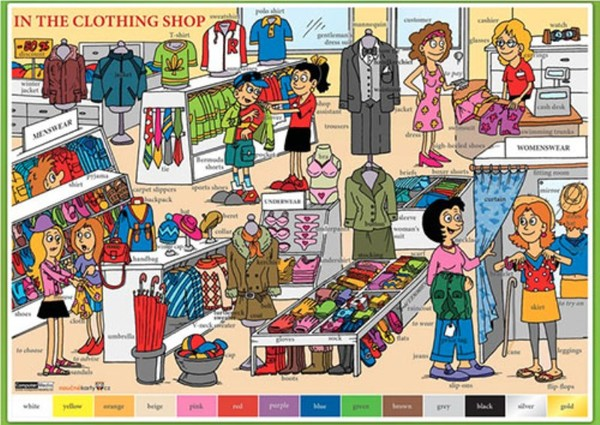 In The Clothing Shop (lamino, A4)