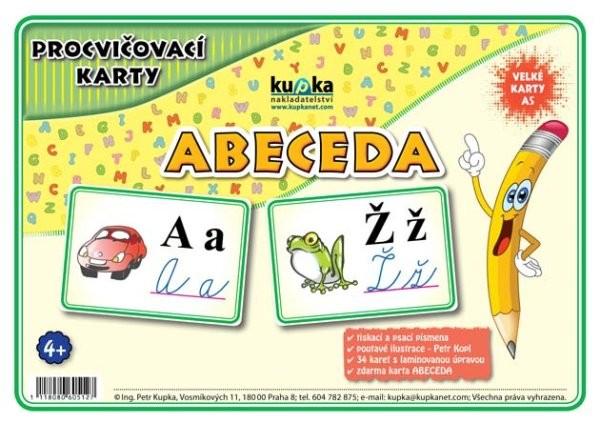 Procvičovací karty - Abeceda (velké karty A5)
