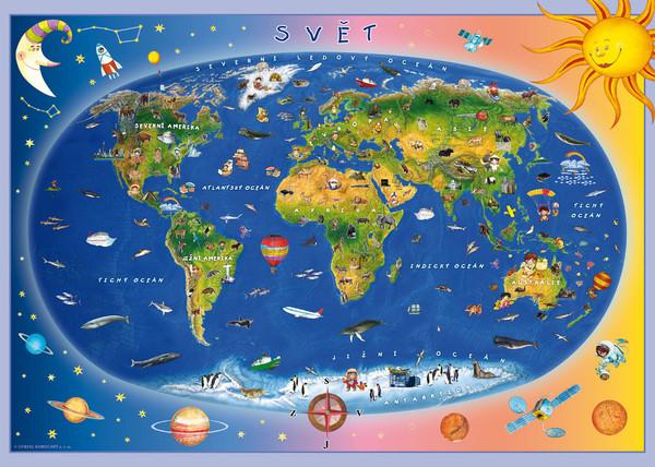 Dětská mapa světa - puzzle