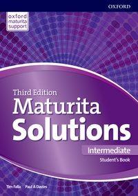 Maturita Solutions 3rd Edition Intermediate Student's Book (Czech Edition)
