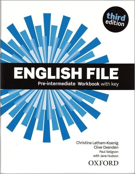English File Third Edition Pre-intermediate Workbook vith key
