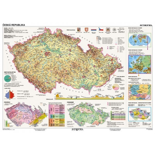 Česká republika - tematické mapy (lamino, A3)