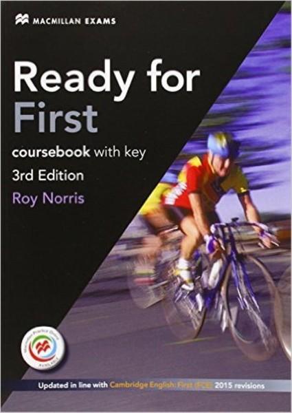 Ready for First Coursebook with Answer Key Pack 3rd Edition (učebnice s klíčem)
