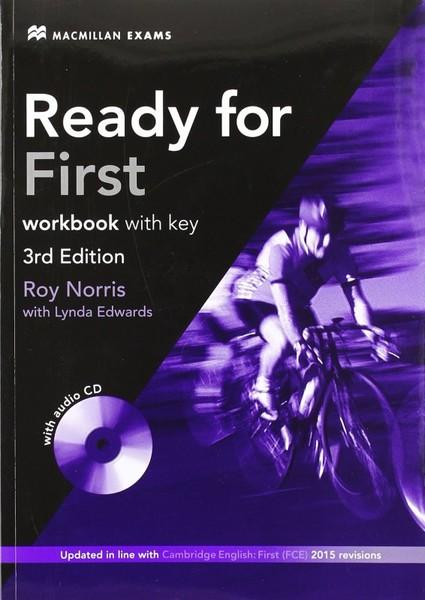 Ready for First Workbook with key 3rd Edition (pracovní sešit s klíčem)