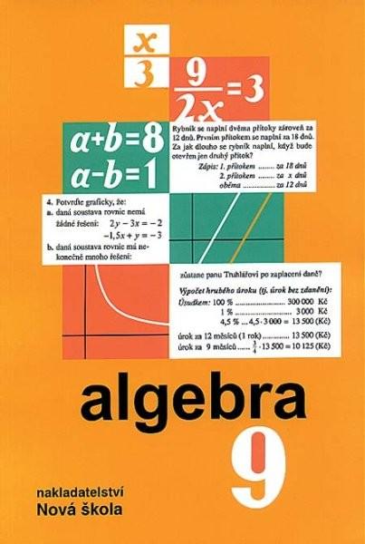 Algebra 9.r. - učebnice
