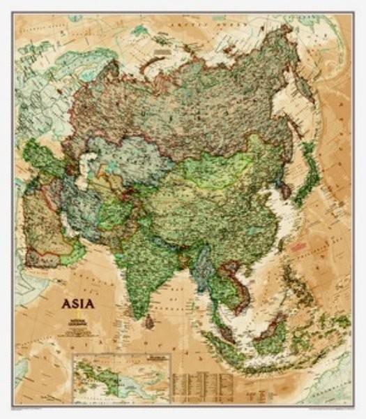 Asie - nástěnná mapa (National Geographic)