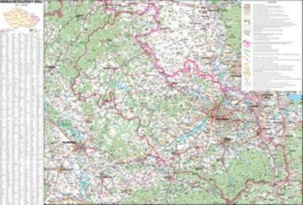 Moravskosleszký kraj - nástěnná mapa (113 x 83 cm)