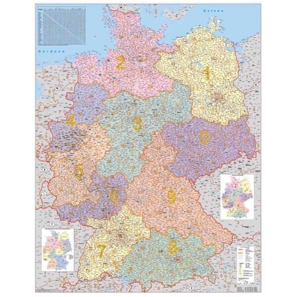 Německo PSČ - 140x100 cm