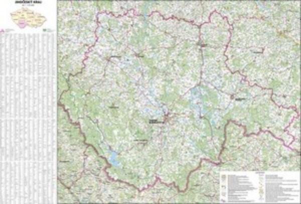 Jihočeský kraj - nástěnná mapa (113 x 83 cm)