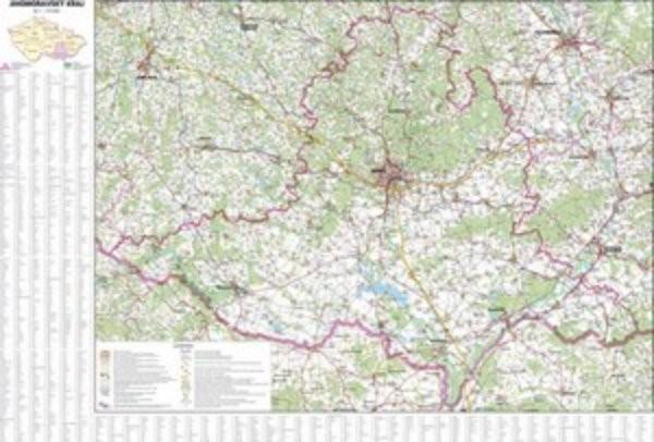 Jihomoravský kraj - nástěnná mapa (113 x 83 cm)