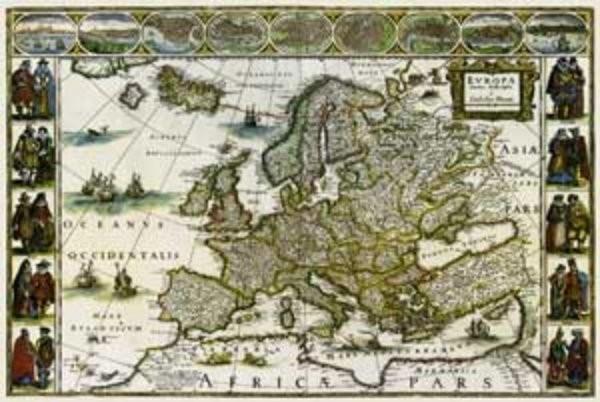 Historická Evropa - nástěnná mapa (113 x 83 cm)