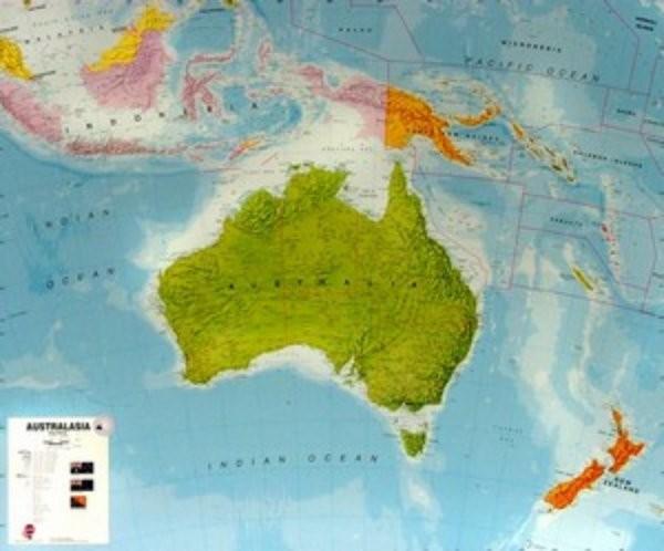 Autrálie - nástěnná mapa (120 x 100 cm)