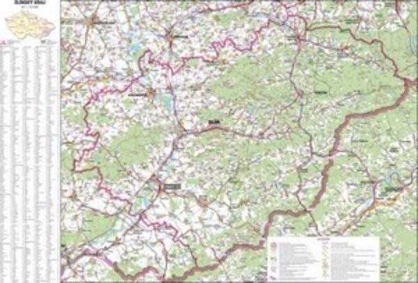Zlínský kraj - nástěnná mapa (113 x 83 cm)