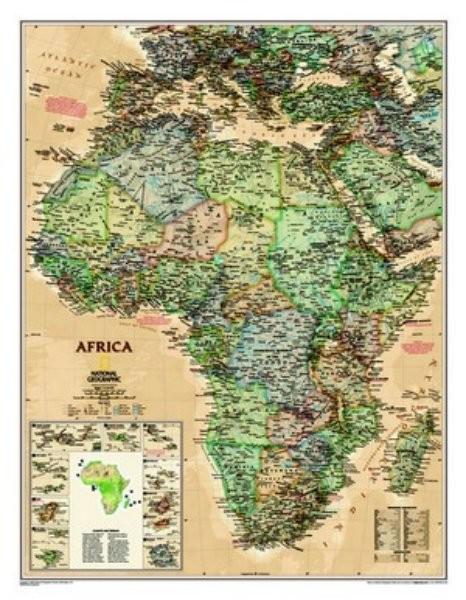 Afrika - nástěnná mapa (National Geographic)