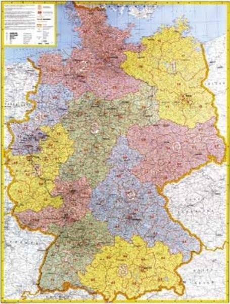 Německo - spediční nástěnná mapa (96 x 130 cm)