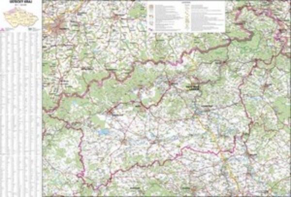 Ústecký kraj - nástěnná mapa (113 x 83 cm)