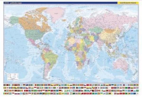 Svět - nástěnná politická mapa (1365 x 960 mm)
