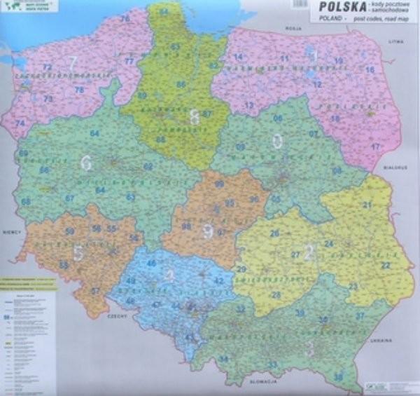 Polsko - spediční nástěnná mapa (100 x 120 cm)