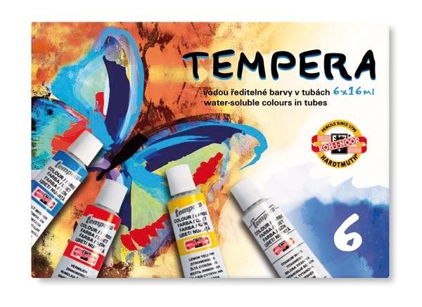 Temperové barvy (6 ks)