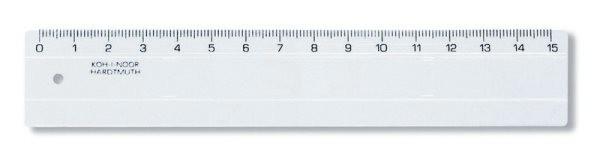 Pravítko 15 cm transparentní