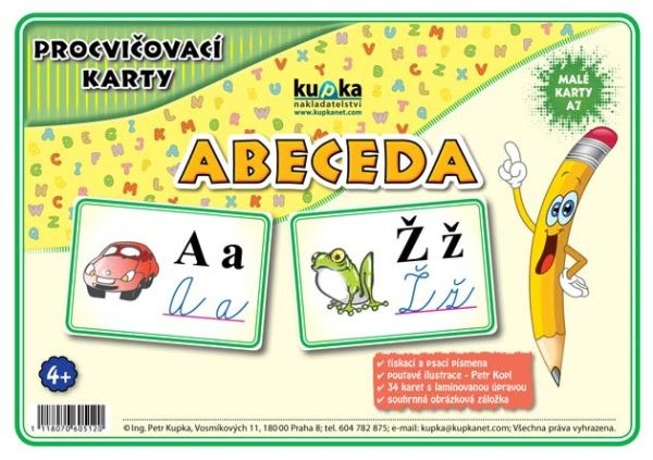 Procvičovací karty - Abeceda (malé karty A7)