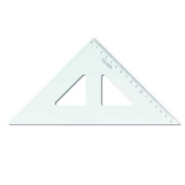 Trojúhelník s ryskou transparentní 16 cm 774150