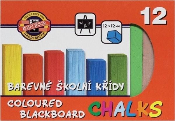 Školní křídy barevné (12 kusů)