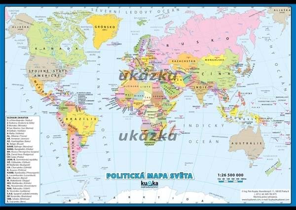 Politická mapa světa XXL (nástěnná mapa)