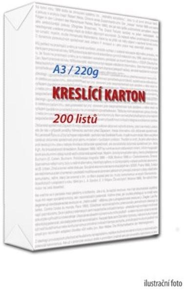 Karton kreslící A3 220g (200 kusů)