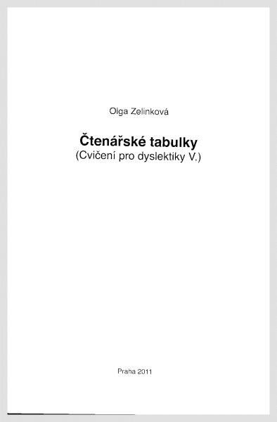 Čtenářské tabulky (Cvičení pro dyslektiky V.)