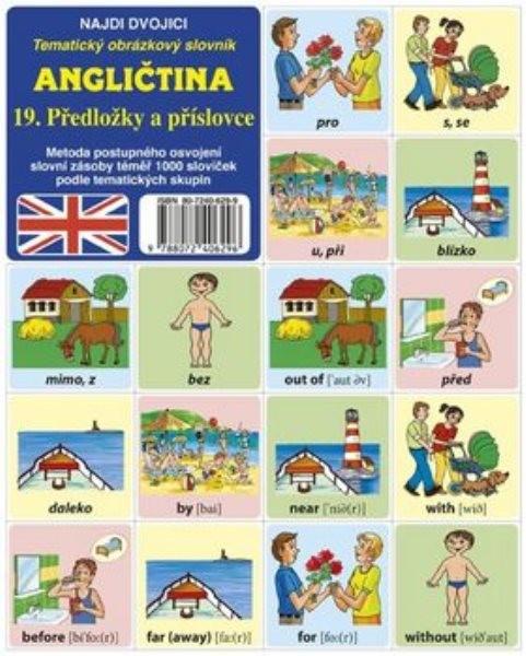 Najdi dvojici - Angličtina - 19.Předložky a příslovce (pexeso)